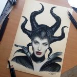 Maleficent Color Pencil Drawing by AtomiccircuS