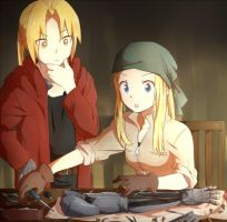 Edward and Winry by Aly434