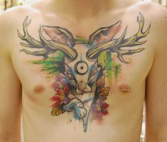 tattoo the jackalope by stilbruch-tattoo