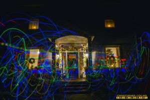 Christmas lights in front of House by ENT2PRI9SE