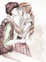 Astrid and Hiccup by Ezelie