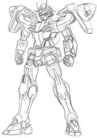 00 gundam sketch by Twilight-Hikari