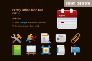 Pretty Office Icon Set part 5 by customicondesign