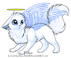 Cute angel kitty adoptable :CLOSED: by Okami-Heart