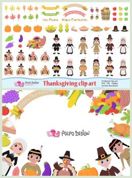Thanksgiving clipart by PolpoDesign