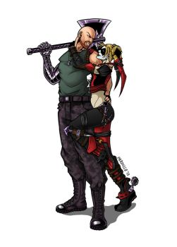Spike and Harley Quinn by padisio