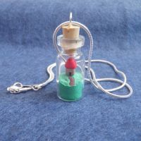 Mini bottle necklace by JacDesigns