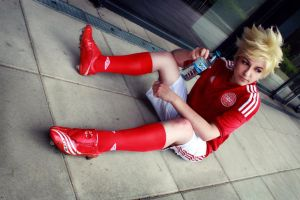 (Hetalia) Denmark - Football by TokyoStripper