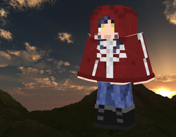 Red Skele Girl Minecraft Skin by Kon13