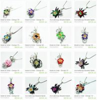 Custom Wire Wrap Perfume Pendants by Create-A-Pendant