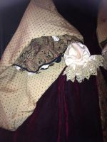 Tudor gown foresleeve detail by TheMostHappy12