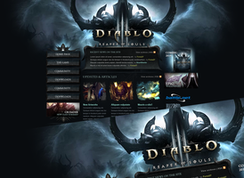 Diablo III Reaper of Souls Wordpress Theme by Forza27