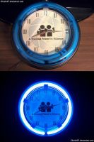 A Trusted Friend In Science Neon Clock by ChrisInVT