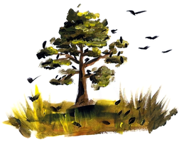 Tree Painting by Sontine