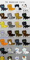 1-56 Warrior Cats by StarMapleStar