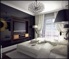 Bedroom interior, view 2 by doubleagent2005