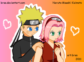 Naruto and Sakura MY NEW STYLE by brsa