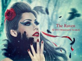 The Raven by MasoumehTavakoli-Art