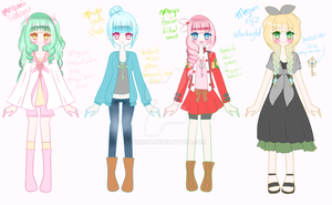 .:.Megumi and her dimensional counterparts.:. by Tiruru