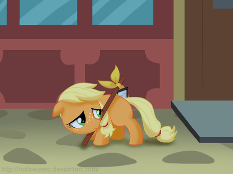 Day 28 - Applejack Tries to Move On by hollowzero