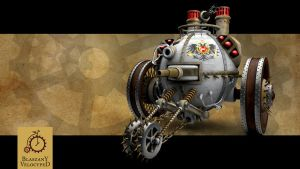 Steampunk Tank Wallpaper Set by Kurczak