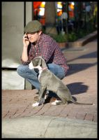 A Dog and his Person by mybearjana
