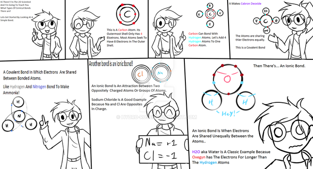 Science Comic for shcool :The 2D Scientist: by Hydro-Rose