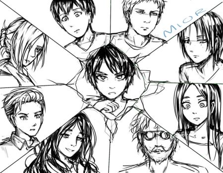 Attack on titan titan shifters wip (SPOILERS) by Miokay