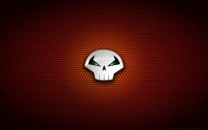 Wallpaper - Spawn 'Skull' Logo by Kalangozilla
