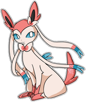 Sylveon // Ninfia by amanda1ee