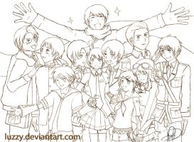 Hetalia x VOCALOID outline by luzzy