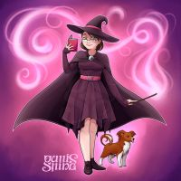 Raffle Prize- Witchsona with familiar by Geminine-nyan