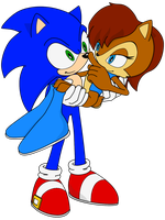 Sonic and Sally by Zero20-2