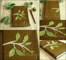 Green Leaves Notebook by izasartshop