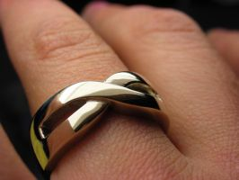 Gold infinity ring by nellyvansee