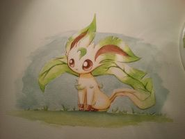Leafeon Watercolours by Meneil666