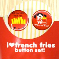 french fry love button set by ilovegravy
