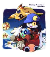 Klonoa on floating Mu by aun61