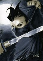 Ninja Dungeon Dolls Sketch Card by RichardCox