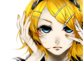 Vocaloid: Rin Kagamine by theBlacFlower
