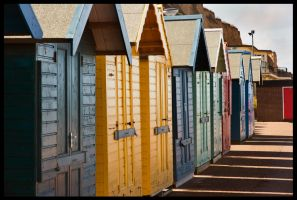 Beach Huts by Megglles