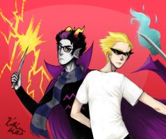 Eridan and Dirk by TheLanguidClown