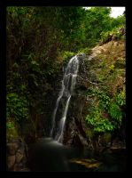 Tai Mo Shan Temple Falls by WiDoWm4k3r