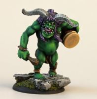 Og the Musical Orc by MiniatureMistress