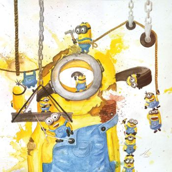 Minion Madness by myH2Ocolor