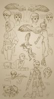 Sketch Page - Angels by KinderCollective