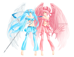 Angels with weapons by swinx10