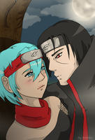 Britt Nara X Itachi .Request. by scribblin