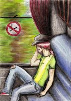 At the train... by Lychnobia