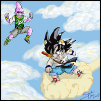 Chibi Goku And Kid Buu by xPixieSoulx